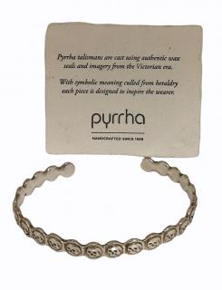 Pyrrha Solid Silver Skull open Bracelet