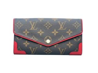 Louis Vuitton Monogram/Red Retiro Wallet