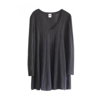 M Missoni Black Knit Wool Blend Shift Dress