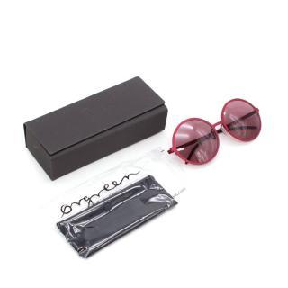 Orgreen Optics Yoko 777 Matt Raspberry Round Sunglasses