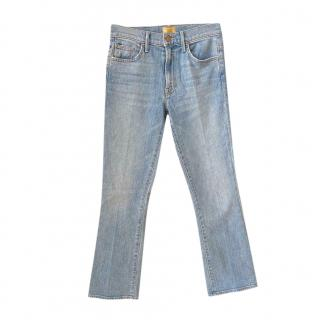 Mother Light Wash Insider Ankle Jeans