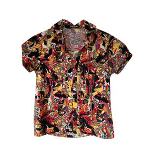 Ferragamo Shoe Print Multicoloured Shirt
