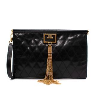 Givenchy Gem Large Black Quilted Leather Shoulder Bag
