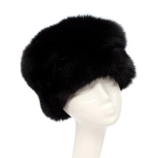 Prada Black Fox Fur Hat