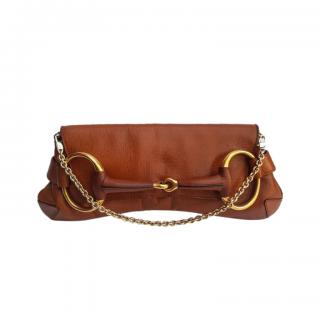 Gucci by Tom Ford Tan Leather Shoulder Bag