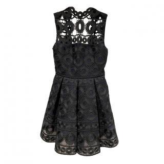 Maje Rodeo Lace Little Black Dress