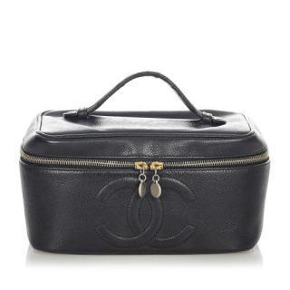 Chanel Caviar Leather Vanity Case
