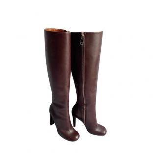 Mulberry Smooth leather Phillips Knee Boots