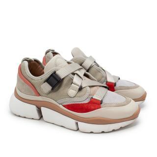 Chloe Sonnie Multicolour Suede & Mesh Sneakers