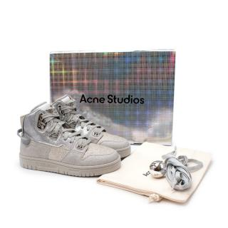 Acne Studios Silver High Top Glitter Sneakers