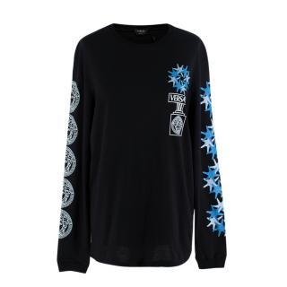 NR Versace Versacepolis Graphic Black Long Sleeve Tee