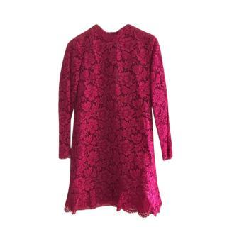 Valentino Garavani Fuchsia Lace Dress