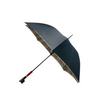 Burberry Black/Check Runway Dog Handle Umbrella