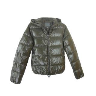 Duvetica Khaki Hooded Puffer Jacket