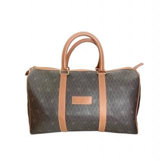 Christian Dior Vintage Honeycomb Travel Bag