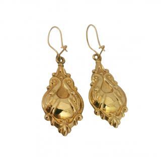 Bespoke Victorian Gold Regency Earrings