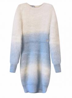Chanel Arctic Collection Angora Blend Blue & White Dress
