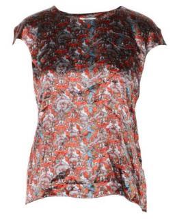 Erdem Multicoloured Silk Floral Top