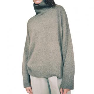 Le Kasha Taupe Cashmere Oversize Jumper