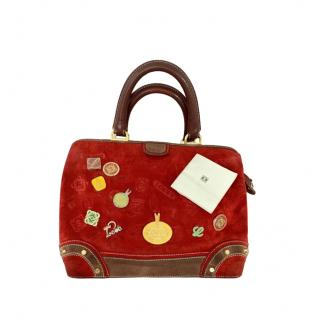 Loewe Red Suede Anniversary Edition Doctors Briefcase