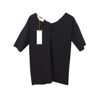 Marni Black Cotton Tie Back Top
