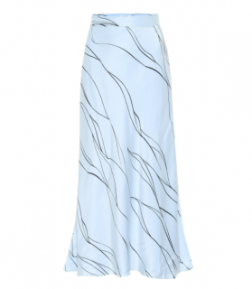 Equipment Iva Printed Silk-blend Midi Skirt