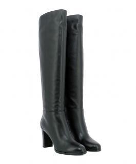 Jimmy Choo Madalie 80 Black Leather Boots