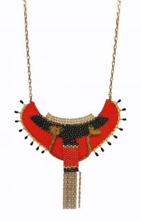 Satellite Paris Handmade Embellished Bib Necklace