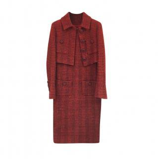 Chanel Crimson Tweed Dress & Cropped Jacket