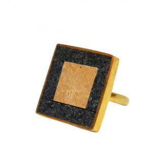Pippa Small Jasper & Agate Square Ring