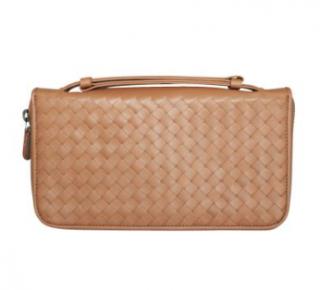 Bottega Veneta Intrecciato Leather Top Handle Travel Wallet
