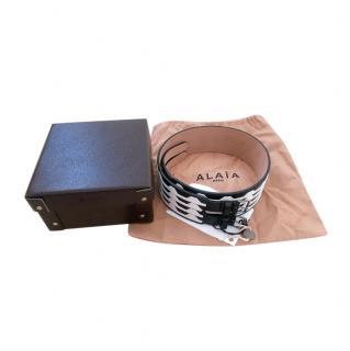 Alaia Black & White Pop Art Waist Belt - Size 70