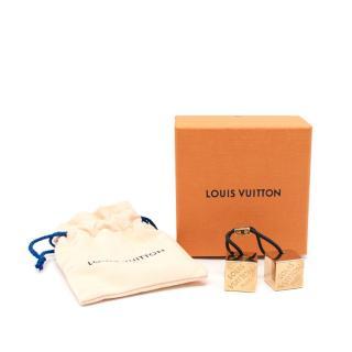 Louis Vuitton Gold-Tone Damier Cube Hair Bobble
