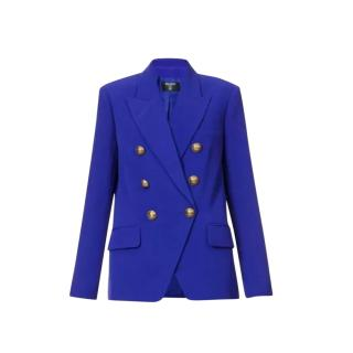 Balmain Electric Blue Double Breasted Blazer