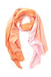 Loro Piana Cashmere & Silk Orange & Pink Scarf