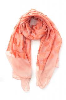Loewe Silk Peach Tassel Scarf