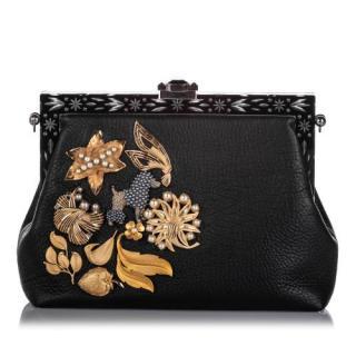 Dolce & Gabbana Embellished Leather Vanda Clutch Bag