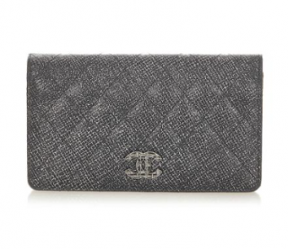 Chanel Metallic Quilted Leather CC Classic Wallet