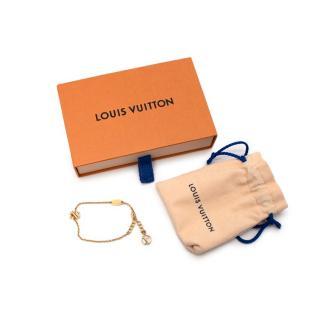 Louis Vuitton LV & Me Gold Finish Letter S Bracelet