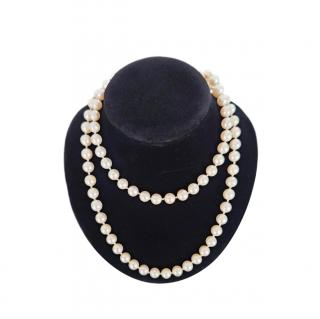 Bespoke Ivory Cultured Pearl Long Necklace