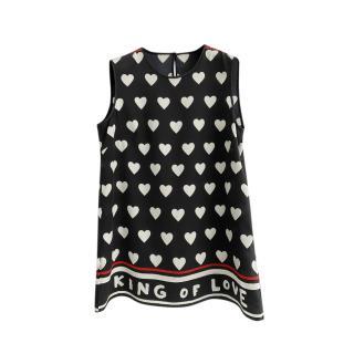 Dolce & Gabbana Heart Print Sleeveless Top