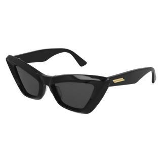 Bottega Veneta BV1101S Black Cat-Eye Sunglasses