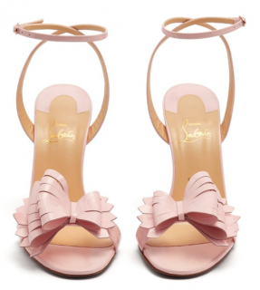 Christian Louboutin Miss Valois 115 baby pink atent-leather sandals