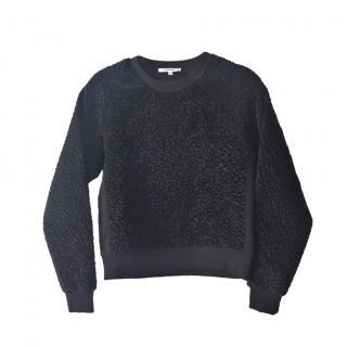 Carven Black Loop knit sweater