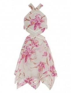 Zimmermann Linen & Silk Corsage Halter Mini Dress