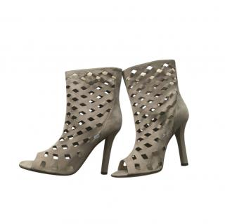 Jimmy Choo Suede Cut-Out Booties