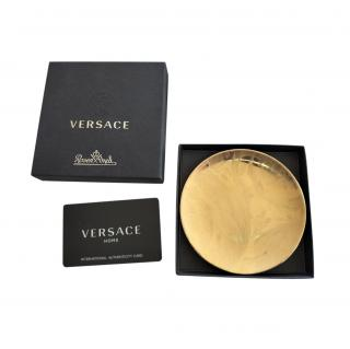 Versace Home Vanity La Dore Golden Porcelain Rosenthal Dish