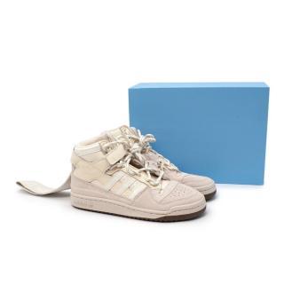 Adidas x Ivy Park IVP Forum Mid Cream Sneakers