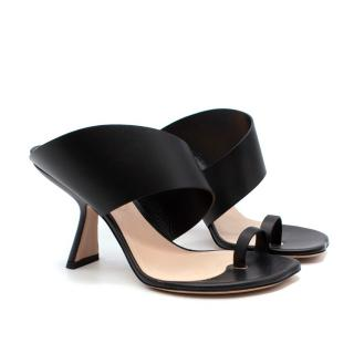 Nicholas Kirkwood Brasilia Black Smooth Leather Heeled Sandals