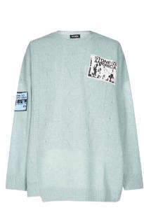 Raf Simons Baby Blue Merino Wool Oversize Jumper